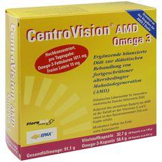 CENTROVISION AMD Omega 3 Kapseln:   Packungsinhalt: 90 St Kapseln PZN: 06722846 Hersteller: OmniVision GmbH Preis: 21,90 EUR inkl. 7 %…