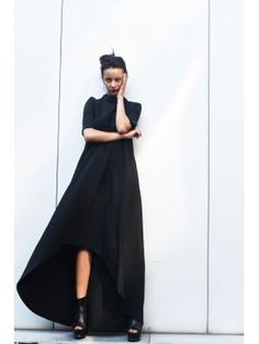 Grey High Low Dress A03305  #aakasha #dress #maxidress #kaftan