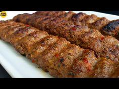 TURKISH ADANA KEBAB RECIPE | TURKISH KEBAB WITHOUT GRILL || by Aqsa's Cuisine - YouTube Kufta Recipe, Burek Recipe, Karahi Recipe, Biryani Recipe, Masala Recipe, Turkish Kebab, Kebab Recipes, Kitchen, Appetizers