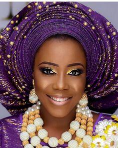Perfection #asoebi #asoebispecial #speciallovers #makeup #wedding  Glam @mo_dees Beads @tavinbeads