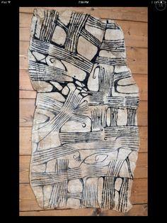 Mbuti Tribal People Handmade Antique Barkcloth Fabric - Ituri Forest, Congo