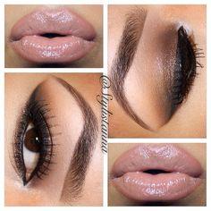 Nude lips w/brown smoky eye!