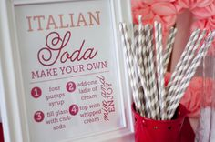 Free Printable | Italian Soda Bar - DesignerBlogs.com