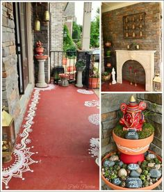 Backyard house bungalows 15 New Ideas Ethnic Home Decor, Indian Home Decor, Diy Home Decor, Indian Home Interior, Indian Interiors, Backyard House, Entrance Decor, Indian Homes, Pooja Rooms
