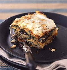 "Mexican Poblano, Spinach, and Black Bean ""Lasagne"" with Goat Cheese.  One of the best things I've ever made."