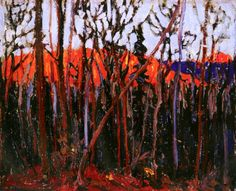 The Athenaeum - Algonquin Park (Tom Thomson - ) Group Of Seven Artists, Group Of Seven Paintings, Canadian Painters, Canadian Artists, Oil Painting Gallery, Artist Painting, Algonquin Park, Tom Thomson Paintings, But Is It Art