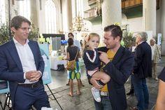 Ook binnenstadsmanager Patrick van 't Loo van de gemeente Schiedam kwam in 2014 kijken op de Woonbeurs