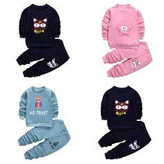 Boys Girls Clothing Sets 2017 Spring Children Fashion Sportswear Long Sleeve Cotton Tops Pant Clothes Set For Kids Clothing Sets //Price: $17.20 & FREE Shipping //     #baby
