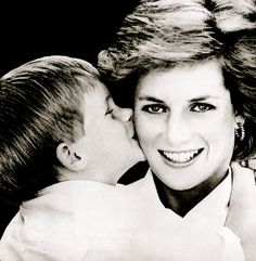 Princess Diana and Wills...Oh, what Grace she had...She would be so proud of him today!