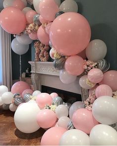 Planning to organise the next style shoots and see this gorgeous balloon installation, does anyone know where can get the marble balloons like that?Beautiful balloons by featured on Balloon Backdrop, Balloon Garland, Balloon Decorations, Birthday Decorations, Balloon Balloon, Balloon Installation, Balloon Columns, Baby Birthday, Birthday Bash