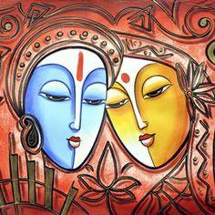 Radha Krishna Painting - The Eternal Love art series