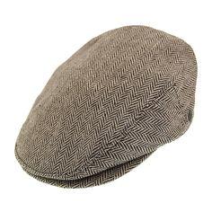 b5572bc92524a Jaxon   James Herringbone Flat Cap - Brown from Village Hats. Jaxon Hats