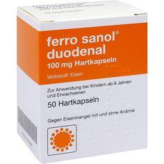 FERRO SANOL duodenal Hartkaps.m.msr.überz.Pell: Latenter oder manifester Eisenmangel mit oder ohne Ausbildung einer Anämie,…