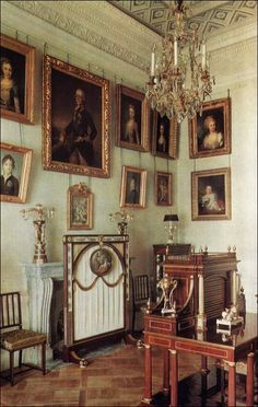 Family Sitting Room - Pavlovsk Palace & Park; St. Petersburg, Russia; Country Residence of the Russian Imperial Family