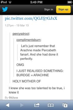 Yes, whoever this burdge is that I keep seeing, she has the talent of Arachne!