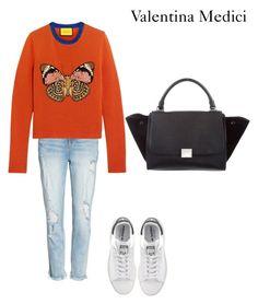 """starting winter"" by valentinamedici on Polyvore featuring moda, Slink Jeans, Gucci, adidas Originals e CÉLINE"