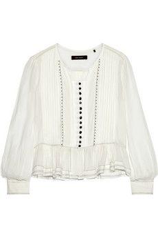 Isabel Marant Randal embellished cotton-gauze blouse   NET-A-PORTER