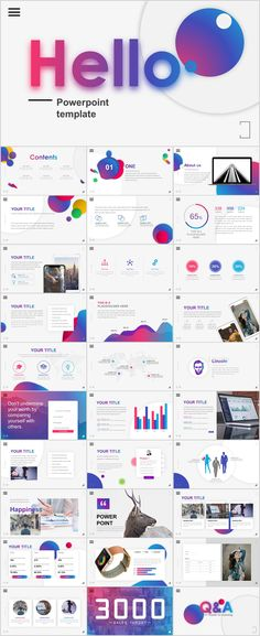 24 Simple Business Powerpoint Template On Behance Powerpoint