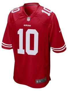 49ers Game, Nfl 49ers, Nike Nfl, American Football Jersey, Nfl San Francisco, Man Games, Men's Football, Football Jerseys, Red Fashion