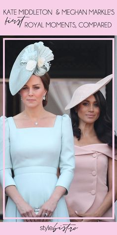 We are obsessed with all things Kate Middleton and Meghan Markle! How do their first royal moments compare, though?