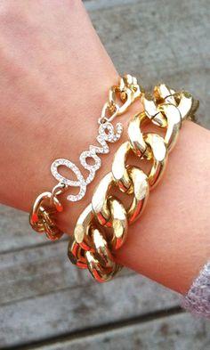 'love' bracelet