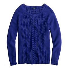 jcrew cotton cable sweater