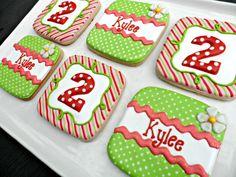 square birthday cookies with radius corners