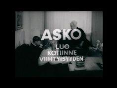 Asko luo kotiinne viihtyisyyden. Vanha Askon tv-mainos 60 - 75 luvulta.