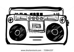 stock vector : retro cassette player cartoon, but would 4th and 5th graders know what this is??