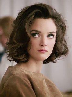 Charlotte Le Bon, classic bob, curled, big eyes. lovely hair