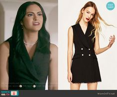 Zara Lace Tuxedo Jumpsuit worn by Veronica Lodge (Camila Mendes) on Riverdale Veronica Lodge Fashion, Veronica Lodge Outfits, Veronica Dress, Tv Show Outfits, Cute Outfits, Camila Mendes Riverdale, Riverdale Veronica, Riverdale Fashion, Preppy Dresses