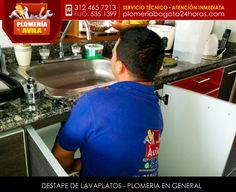 Destape de lavaplatos #plomeria #Bogota