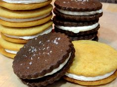 Malted Milk Sandwich Cookies-- some of my favorite cookies EVER. :)
