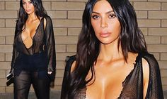 Kim Kardashian has been using various crafty ways to show off her breasts this month. And the 36-year-old reality TV darling may have come across her most successful method on Wednesday.