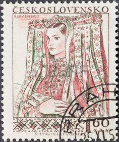 Picture of CZECHOSLOVAKIA- CIRCA A postage stamp printed in the Czechoslovakia shows portrait of young woman in Slovenian national costume, circa 1956 stock photo, images and stock photography. Greece Pictures, Folk Costume, Costumes, Stamp Printing, Stamp Collecting, Schmidt, Postage Stamps, Stock Photos, Portrait