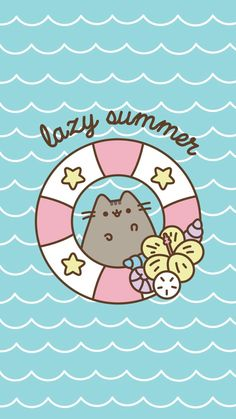 Pusheen Lazy Summer Wallpaper by - - Free on ZEDGE™ can find Pusheen and more on our website.Pusheen L. Wallpaper Hipster, Cute Cat Wallpaper, Summer Wallpaper, Kawaii Wallpaper, Iphone Wallpaper, Cellphone Wallpaper, Pusheen Wallpaper, Gato Pusheen, Pusheen Love