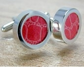Photo Cuff Links. Use your own image or pretty paper to make your own unique cuff links.