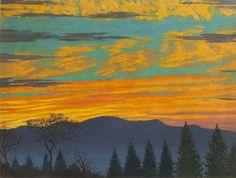 "igormaglica: "" Luigi Russolo (1885-1947), Tramonto / Sunset, 1946. oil on plywood, 31.5 x 40 cm """
