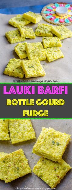 Lauki barfi, a delicious Indian sweet made with just a few ingredients. Who knew fudge from bottle gourd and milk solids would be so good? Popular Recipes, New Recipes, Favorite Recipes, Healthy Desserts, Dessert Recipes, Healthy Recipes, Indian Food Recipes, Vegetarian Recipes, Indian Sweets