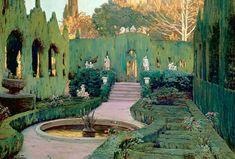 Painting the Modern Garden: Monet to Matisse Spanish Painters, Spanish Artists, Garden Park, Garden Painting, Painting Art, Traditional Paintings, Parcs, Monet, Valencia
