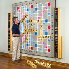 Is this giant Scrabble board crazy-cool or just plain crazy?