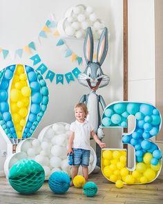 Ideas Para Decorar Un Cumpleanos Con Numeros Ideas Para Las Ballon Decorations, Birthday Party Decorations, Birthday Parties, Deco Ballon, Photos Booth, Number Balloons, Baby Boy Birthday, Festa Party, Baby Party