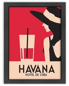 Spotted this Havana Hotel de Cuba by Alan Walsh on Rue La La. Art Deco Posters, Vintage Posters, Poster Prints, Art Prints, Cuba Vintage, Danse Salsa, Havana Hotels, Havana Nights Party, Cuban Art
