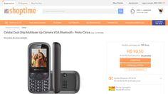 [Shoptime] Celular Dual Chip Multilaser Up Câmera VGA Bluetooth - Preto / Cinza por R$ 104,72