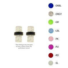 UV Glitter Plugs with O-Rings - Lex and Lu Body Jewelry