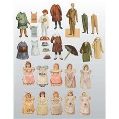 Lot of Advertising Paper Dolls.