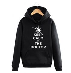 Mens Doctor Who hoodie plus size Keep calm I am the doctor hooded sweatshirts