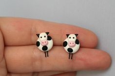 Vacas pequeñas pendientes colección del granjero