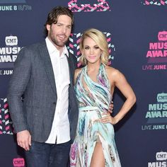 Carrie Underwood & Mike Fisher from CMT Music Awards 2016 Red Carpet Arrivals