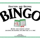 This classroom tested game is played like your basic Bingo game, with one twist.  Instead of covering up the fraction or decimal that is called, yo...